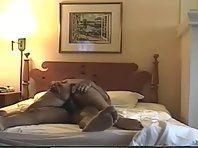 Wife with a nice ass keeps riding her hubby hardcore